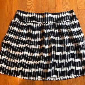 Ann Taylor Loft ikat pattern skirt with pockets